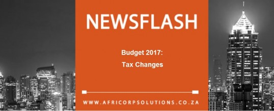 Budget 2017: Tax Changes