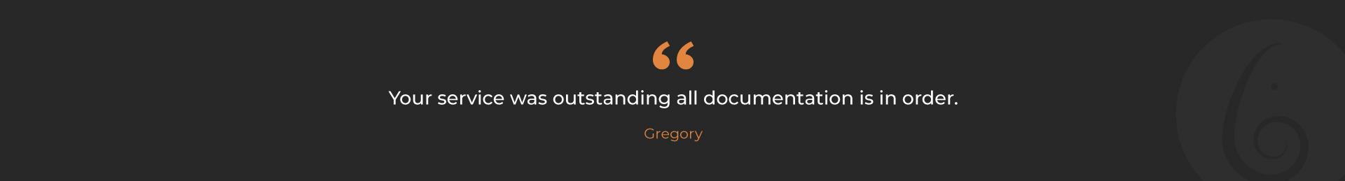 Gregory-Testmonial
