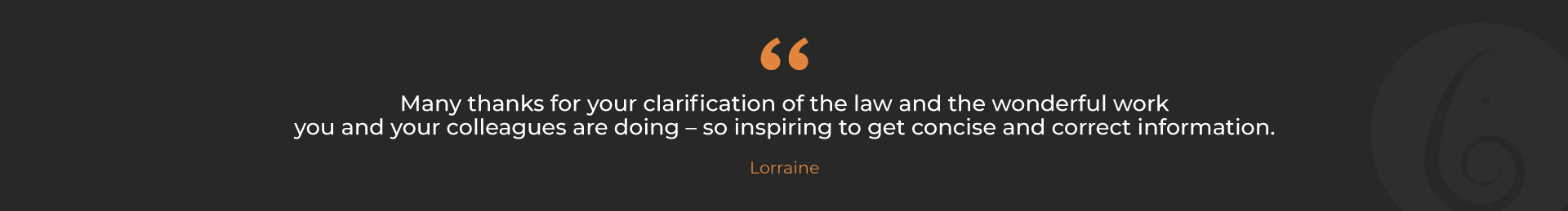 Loraine-Testmonial