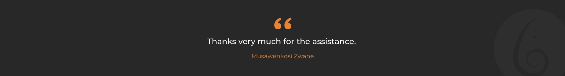 Musawenkosi-Testmonial